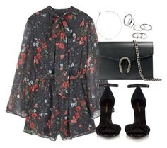 """Untitled #3670"" by theeuropeancloset ❤ liked on Polyvore featuring MANGO, Yves Saint Laurent and Gucci"