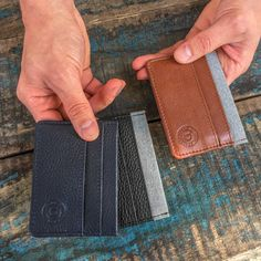 Minimalist Wallet Leather PERSONALIZED Gifts for by DublonLeather