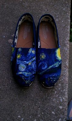 Custom TOMS - Van Gogh via Etsy.  I absolutely love these, Starry Night is by far my favourite of his paintings.  And that may or may not have anything to do with Doctor Who.