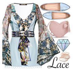 """Lace Boho"" by minchu ❤ liked on Polyvore featuring Zimmermann, Roberto Cavalli, Emilio Pucci, Mollini, Unicorn Lashes and Red Camel"