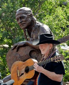 Willie Nelson Statue Unveiled In Austin, Texas.