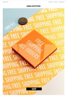 Urban Outfitters Free Shipping eDM Box Packaging, Packaging Design, Online Marketing, Digital Marketing, Men Apartment, Urban Outfitters Women, Newsletter Design, Layout Inspiration, Branding