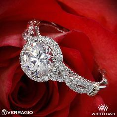 Verragio Braided Halo Diamond Engagement Ring from the Verragio Parisian Collection.