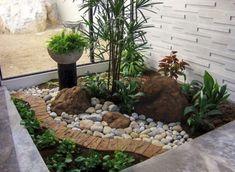 Cool Front Yard Rock Garden Landscaping Ideas 40