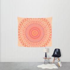 """Wall Tapestry Small: 51"""" x 60"""" Christine baessler (christinebssler) Mandala mental health by Christine Baessler  Mandala, kaleidoscope, Snsnkrit, faith..."""