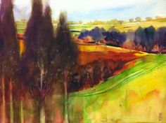 Alessandro Andreuccetti: Paesaggio con cipressi