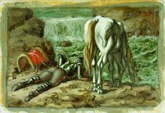 3. L'attore intraprende il suo viaggio con il suo cavallo Falafel, e si ferma in Borgogna a bere alla sorgente del fiume Senna.