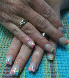 Rockstar acrylic nails by Rachel