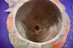 DIY Cement Pumpkin Planter for Halloween ⋆ Dream a Little Bigger How To Clean Chrome, Pumpkin Planter, Cement Walls, Plastic Pumpkins, Crochet Beanie Pattern, Painted Pumpkins, Cleaning Chrome, Planters, Diy Crafts