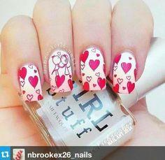 #NailArts #GirlStuff #Valentine