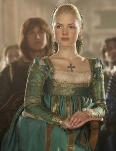 Color family,  Also, just an awesome dress.  The Borgias green dress ... - Medieval and Renaissance Dresses