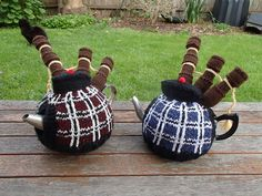 This Knitted Bagpipe Tea Cosy is Quite Unique!