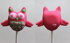 Valentine Owl Pops by MyOwlBarn, via Flickr