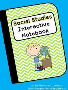 Social Studies Interactive Notebook- 10bucks of great ideas for grades 3-5