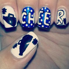 cheerleading nails - @Nicole Spire im totally gonna do this this year :)