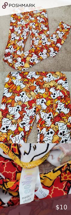 Pumpkin Jack-o-lantern Halloween Women/'s Leggings OS One Size 2-10