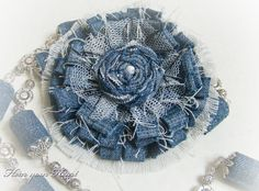 Oh, my gosh!! Look at this denim flower!! From Tatiana Pasichenko, 2015