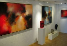 Eelco Maan I lyrical abstract paintings I Galerie Thyade, Rotterdam 2014