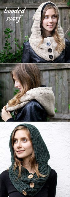 Free Crochet Pattern: These Colorado-made, hooded scarfs are knit from soft, superfine wools. The perfect fall accessory.