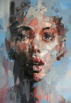 South Africa Artist Ryan Hewett (1979) | oil on canvas...170x130cm...  — with Carmen Mountford.