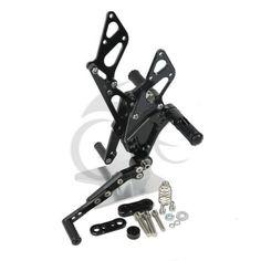 Black CNC Foot Rest Pegs Set For Suzuki GSXR1000 2009-2013
