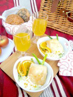 Filo-Täschchen mit vegetarischer Fülle sind ideal fürs Picknick! Frisch, gesund, lecker!