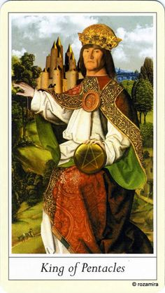 King of Pentacles - Lovers' Tarot by Jane Lyle and Oliver Burston