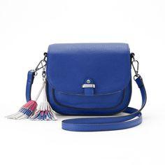 Candies® Tassel Saddle Bag ( 24) ❤ liked on Polyvore featuring bags,  handbags · Blue Shoulder ... 66a9da21ca