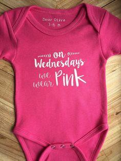 Baby girl Onesie  Girl Bodysuit On Wednesdays we wear by DearOliva