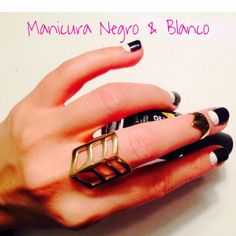 How to give yourself an inverse French mani. | Manicura Francesa Inversa