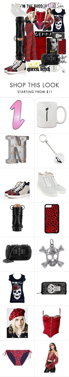 """Gemma pick a pair"" by lerp ❤ liked on Polyvore featuring GAS Jeans, Christian Louboutin, Sons of Anarchy, Philipp Plein, Loungefly, Ana Accessories, Roberto Cavalli, STELLA McCARTNEY, The Nude Label and Versace"