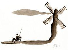 dom quixote moinhos de vento - Pesquisa Google