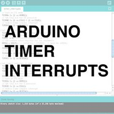 Timer interrupts allow you to perform a task at very specifically timed intervals regardless of what else is going on in your code. In this instructable I'll...