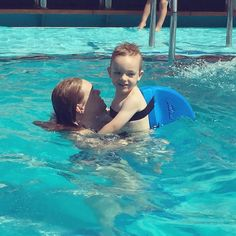Thanks to @swimfingb we have a water baby! Before T was scared to get in the water but with his #SwimFin he loves it!!! #carnivalvista #carnivalfamily #foodieseekerfamily #cruising #swimming