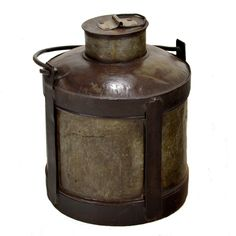 This vintage country-style metal milk can is what was used to take milk from farms into town. Description from homedesignstoreflorida.com. I searched for this on bing.com/images