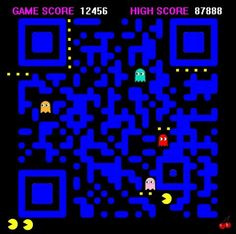 #pacman #QRCode it really scans!