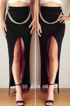 sexy black skirt