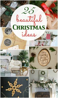 So many beautiful Christmas ideas for your home!