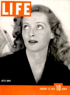 Bette Davis on the cover of  LIFE magazine 1939.
