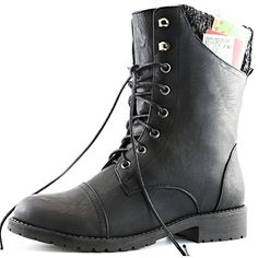 "DailyShoes Womens Military Lace Up Buckle Combat Boots Sweater Ankle High Exclusive Credit Card Pocket, Black Pu, 7.5. STAY WARM IN EVERY SEASON Tops of the boots are made out of neoprene, the same material wet suits are constructed out of! It's an excellent insulator on cold days but still cool on warm ones. DailyShoes Ankle Pocket Boots with Sweater Top - 9.5"" Fashion Shoes for Women. WHY CARRY A WALLET? These pocket boots have a 3-inch by 3-inch side pocket to stow your cash, cards and…"