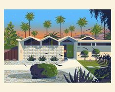 Park Imperial South designed by George Townley. Connect with them on Dribbble; the global community for designers and creative professionals. Palm Springs Houses, House Illustration, Digital Illustration, Retro Illustration, Adams Homes, The Royal Tenenbaums, Highlands Ranch, Howls Moving Castle, Los Angeles Homes