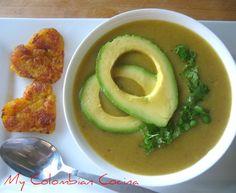 Sopa de Platano or Plantain Soup New Recipes, Soup Recipes, Cooking Recipes, Drink Recipes, Vegetarian Soup, Vegetarian Recipes, Colombian Cuisine, Colombian Recipes, Puerto Rico Food
