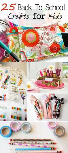 25 Back To School Crafts for Kids!