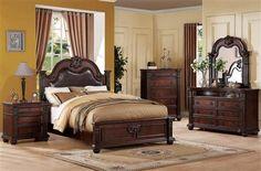 Daruka Cherry Wood Master Bedroom Set