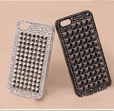 bling STUDs iphone 4  case studded iphone 4s case by liuxingGARDEN, $19.99