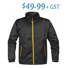 $49.99 April Special - Shell Jacket with Logo Motorcycle Jacket, Shells, Mesh, Sleeves, Colour Black, Logo, Jackets, Zippers, Size Chart
