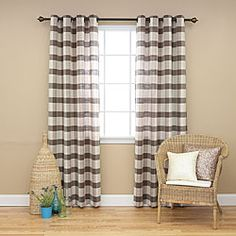 @Overstock - These grommet curtains feature a simple and stylish checkered patterns adds a sophisticated touch to any room. They allows natural light to flow through the room while providing privacy.http://www.overstock.com/Home-Garden/Checkered-Faux-Linen-Grommet-84inch-Curtain-Pair/6788155/product.html?CID=214117 $64.99