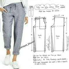 Best 12 FREE PATTERN ALERT: Pants and Skirts Sewing Tutorials – On the Cutting Floor: Printable pdf sewing patterns and tutorials for women – SkillOfKing. Fashion Sewing, Diy Fashion, Fashion Outfits, Moda Fashion, Costura Fashion, Sewing Pants, Sewing Clothes, Barbie Clothes, Dress Sewing Patterns