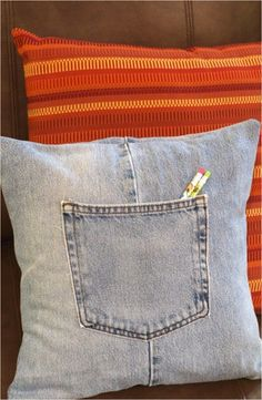 Jazz up your sofa and save an old pair of jeans