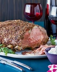 MY HUBBY'S BLOG: Spiced Coriander & Mustard-Crusted Rib Roast of Beef